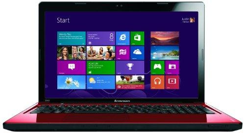 Lenovo Ideapad Z580 15.6 inch laptop - Red (Intel Core i7 3520M 2.9GHz, 8Gb RAM, 750Gb HDD, DVD RW, Windows 8)