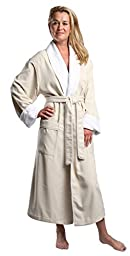 Monarch/Cypress Unisex Plush Lined Microfiber Robe X-Large Natural