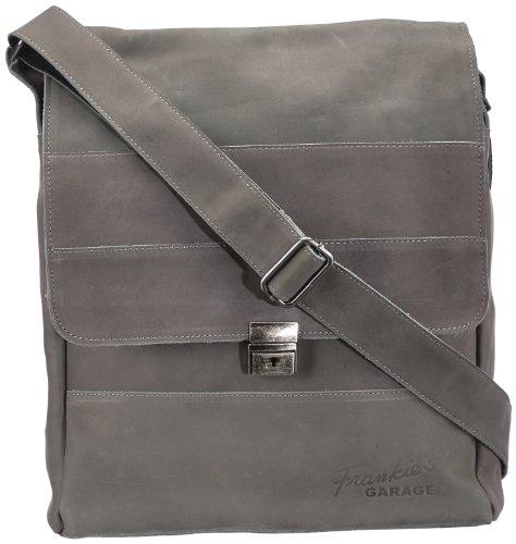 Frankie's Garage  Liam,  Borsa messenger uomo, Grigio (Grau (grey 014)), 28x35x8 cm (B x H x T)