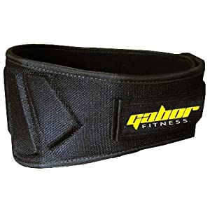 Gabor Fitness Contoured Neoprene Back Support Weight Lifting Belt, 6-Inch/Large/X-Large