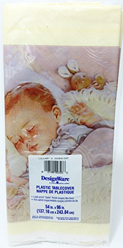 Lullabye & Goodnight Baby Shower Tablecover (1ct)
