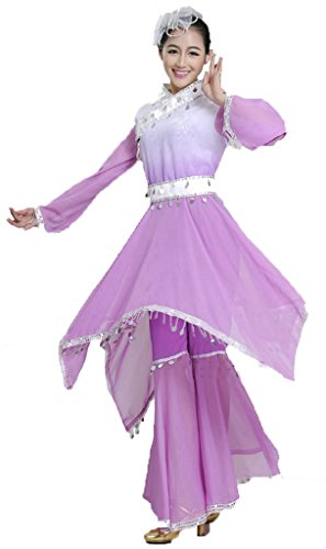 Yangko Classical Stage Dance Dress Coustumes