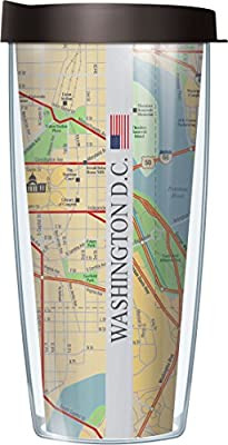 16 ounce DC coffee mug - Washington street map tumbler - insulated coffee cup