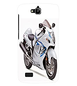 Fuson 3D Printed Suzuki Bike Designer Back Case Cover for Huawei Honor Holly - D881