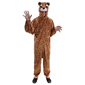 Tiger Adult Animal Fancy Dress Halloween Costume One Sz by Wicked Costumes