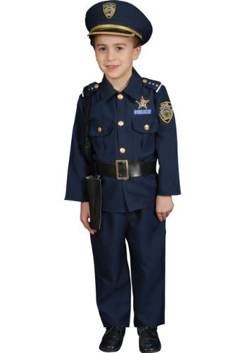 Police Officer Deluxe Toddler Costume
