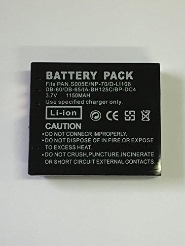 PCATEC SIGMA BC-41/BP-41/PANASONIC DMW-BCC12/CGA-S005/RICOH リコー Caplio GR G600 G700 GX200 R3 R4 R5 の DB-60 DB-65 対応互換バッテリー Lumix DMC-FX100/GR DIGITALIII