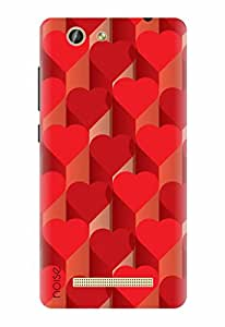 Noise Designer Printed Case / Cover for Gionee F103 Pro / Patterns & Ethnic / 3D Hearts Design