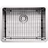Kraus KHU101-23 23-Inch Undermount Single Bowl 16 gauge Kitchen Sink, Stainless Steel