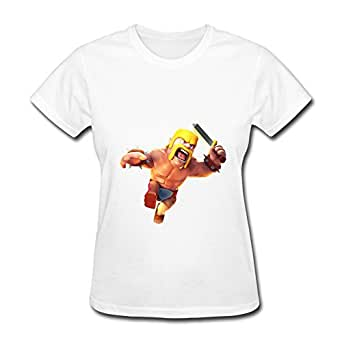 LMB Woman's T-shirt Clash Of Clans App Games Size XXL White at Amazon