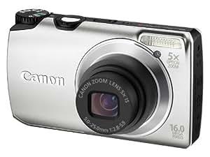 Canon PowerShot A3300 IS - Cámara Digital Compacta 16 MP (3 pulgadas LCD, 5x Zoom Óptico) - Plata (importado)