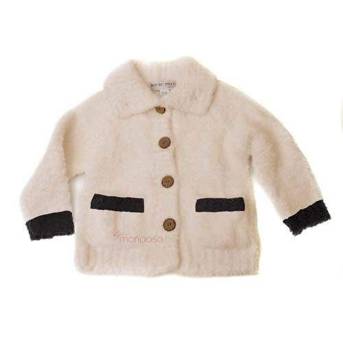 Barefoot Dreams Cozy Chic Toddler Cardigan, Size: 2T-3T, Color: Pink/Espresso