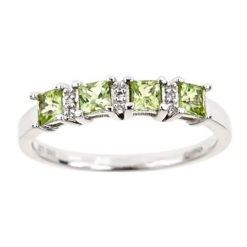 1 Carat Princess Cut Engagement Rings
