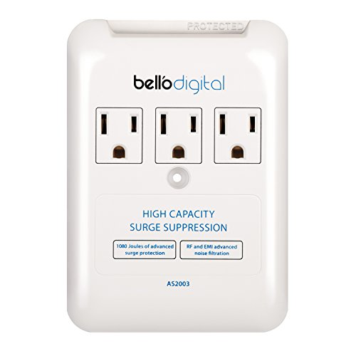 Bell'O Digital AS2003  3-Outlet In Wall Appliance Surge Protector (Surge Protector Appliance compare prices)