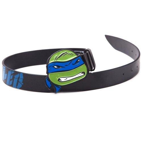 Teenage Mutant Ninja Turtles Nero Cintura With Leo Blue 2D Buckle 85Cm