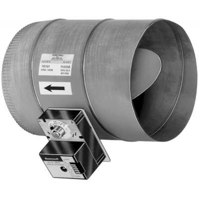 Honeywell dm7600a1047 single blade round damper used with for Zone damper motor repair