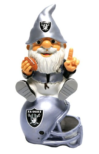 "2013 NFL Football 11"" Garden Statue Gnome Sitting on Team Logo - Pick Team! (Oakland Raiders) at Amazon.com"