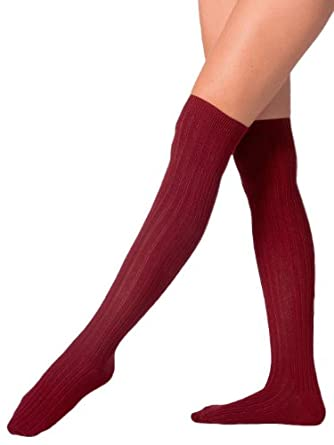 American Apparel Ribbed Modal Over-the-Knee Sock - Truffle / One Size