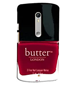 Blue Throat Butter London Nail Polish Printed Designer Back Cover/ Case For Moto X Style