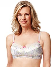Post Surgery Floral Non-Wired A-DD Bra with Modal