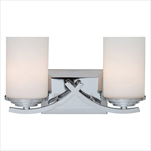 Yosemite 4090-2V 2 Light Bathroom Vanity Light, Chrome