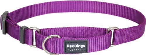 Red Dingo martingala collare di cane, 25mm, grande, Pianura viola
