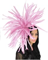Hats By Cressida Huge Feather Bomb Sheer Ascot/Kentucky Derby Fascinator Hat With Headband