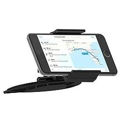 Skiva Universal Smartphone CD Slot Car Mount Holder for iPhone SE 6 6s Plus 5S 5C 5, Samsung Galaxy S7 S6 Edge Edge+ S5 S4 Note5 Note4 Note3, Nexus 5X 6P, LG G5 G4, HTC One M9 M8 & more [Model:AH110]