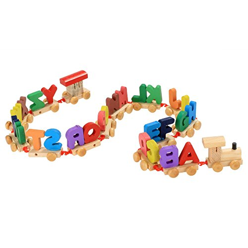 Arshiner Wooden Alphabets Train Set 26 Piece