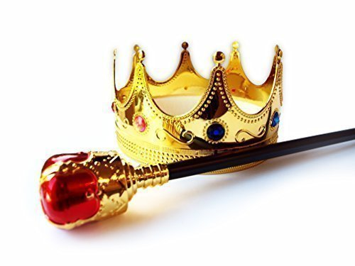 [Regal King Crown and Royal Scepter Set by Express Novelties Online] (Boo Costume Toddler)