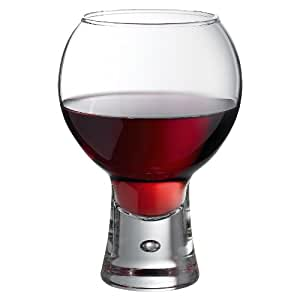 Durobor set of 6 19oz 540ml short stem bubble base red wine glasses 06 11 103 - Short stemmed wine glasses uk ...