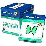 "Hammermill Laser Print Paper, 8 1/2"" x 11"", 24 lb., 98 Bright, 2500 sheets/5 ream Case, (104640C)"