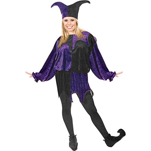 Women's Adult Jester Costume (Size:Small 5-7)