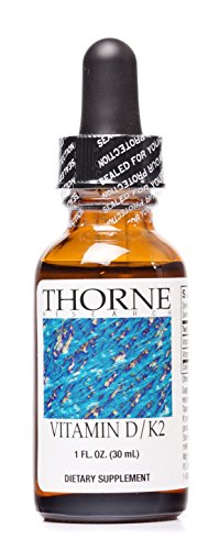 Thorne Research - Vitamin D/K2 Liquid - Dietary Supplement with D3 and K2 - 1 fluid ounce (30 mL) (Thorne D 1000 compare prices)