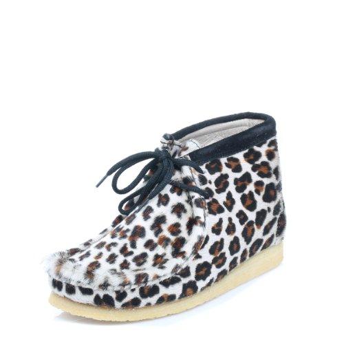 Viento Americano Donna Lince marrone leopardo Print stivali-UK 4