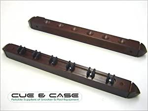 Snooker Pool Cue Rack with Clips - Holds 6 Cues - T100