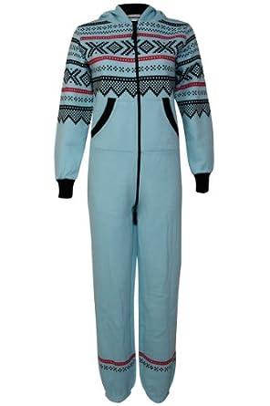Amazon.com: Womens Royal Blue Fairisle Print Ladies Romper