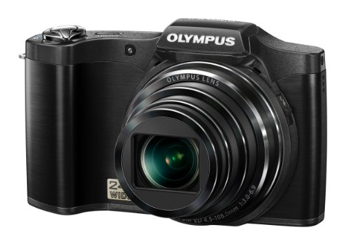 Olympus SZ-14 Digital Super Zoom Camera - Black (14MP, 24x Wide Optical Zoom) 3 inch LCD