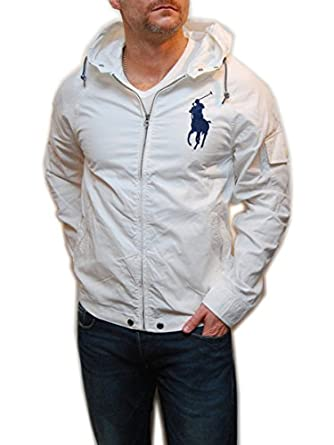 Polo Ralph Lauren Men Lightweight Big Pony Logo Full Zip Hooded Jacket