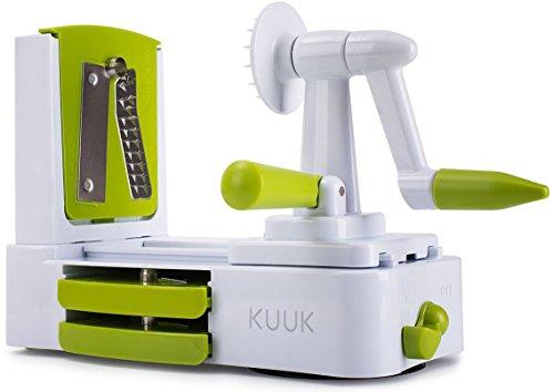 Kuuk Coupe-Légumes Spirale Deuxième Génération Plastique Blanc 24 x 12 x 19 cm