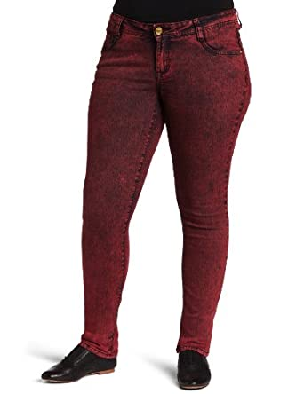 b8920d8f5a8 Amazon com  Southpole Juniors Plus Size Stone Washed Color Skinny Jeans  with Rhinestone Accent