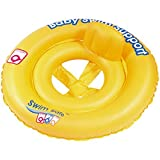 Inflatable Swim Safe Neon Yellow Baby Floatation Seat