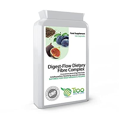 Digest-Flow Dietary Fibre Complex 100 Capsules - Soluble and Insoluble Fibre Blend to Support Healthy Digestive Function and Bowel Movements