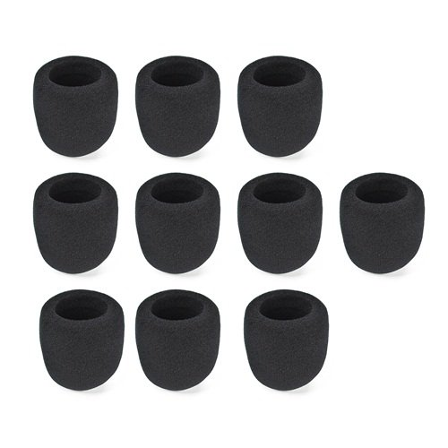 Anbana ® 10 Pieces Black Handheld Stage Microphone Windscreen Foam Mic Cover Karaoke Dj