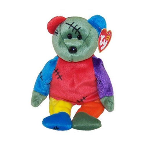 TY Beanie Baby - FRANKENTEDDY Bear (Blue & Green Feet) (8.5 inch) - 1