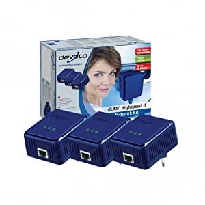 Devolo dLAN Highspeed II (HomePlug) Network Kit - (3x plugs)