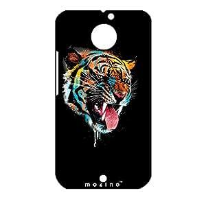 Mozine Rainbow Tiger printed mobile back cover for Motorola Moto X 2nd gen