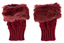 Simplicity Winter Soft Knitting Faux Fingerless Fur Half Cuff 4 Pcs Gloves