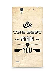 Amez Be the Best version of Yourself Back Cover For Sony Xperia C4