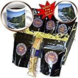 777images Digital Paintings Landscapes - Digital Oil Painting Oregon coast High cliffs pounding waves ocean - Coffee Gift Baskets - Coffee Gift Basket